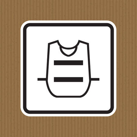 Symbol Wear Vest Isolate On White Background,Vector Illustration