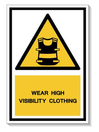Symbol Wear Vest Isolate On White Background,Vector Illustration EPS.10