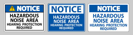Notice Sign Hazardous Noise Area Hearing Protection Required