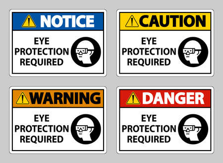 Eye Protection Required on white background
