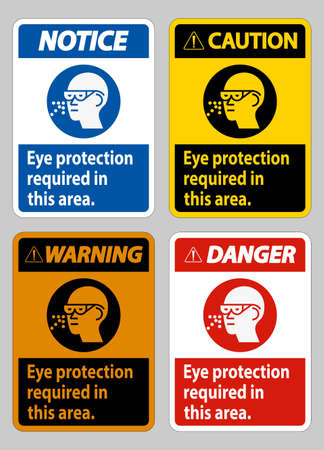 Eye Protection Required In This Area on white background