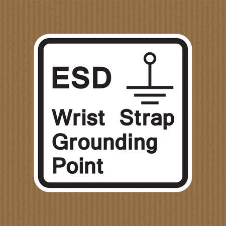 Grounding Point Symbol Sign, Vector Illustration, Isolate On White Background Label. 向量圖像