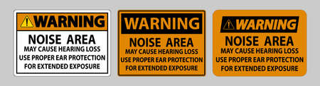 Warning PPE Sign, Noise Area May Cause Hearing Loss, Use Proper Ear Protection For Extended Exposure