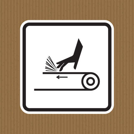 Hand Abrasion Belt Drive Symbol Sign Isolate on White Background,Vector Illustration Illusztráció