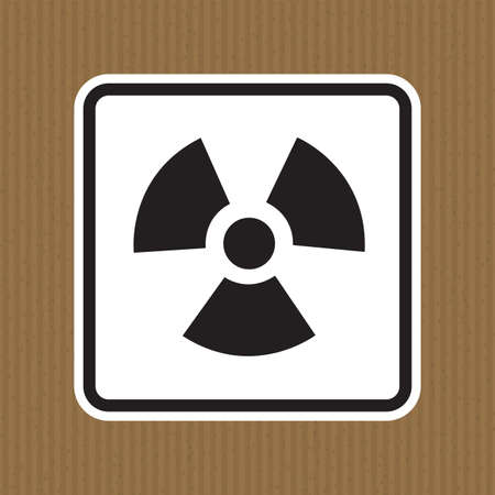 Radiation Hazard Symbol Sign Isolate on White Background,Vector Illustration Illusztráció
