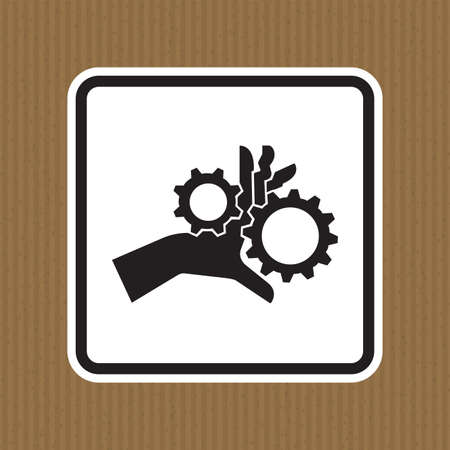 Hand Entanglement Rotating Gears Symbol Sign Isolate On White Background,Vector Illustration EPS.10 Illusztráció