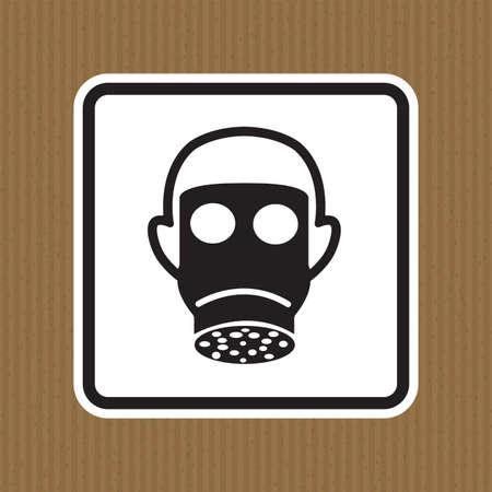 Symbol Wear Full Face Sign Isolate On White Background,Vector Illustration Ilustração