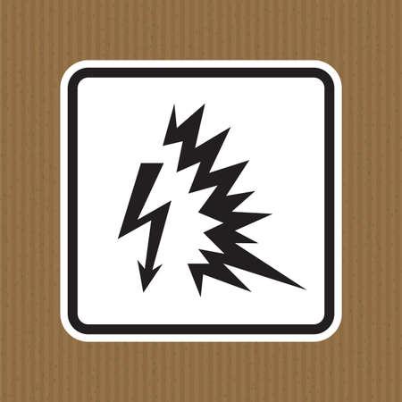 Arc Flash Symbol Sign Isolate On White Background,Vector Illustration EPS.10