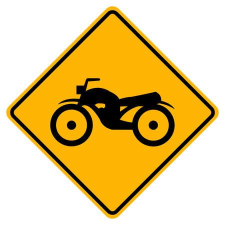 Warning Traffic Road Sign Keep The Motorcycle Ride Illusztráció