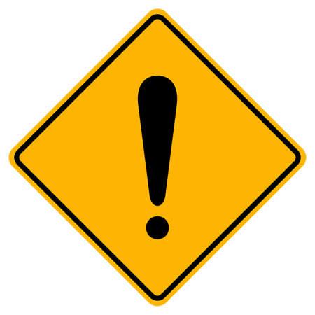Hazard Warning Symbol Sign On White Background
