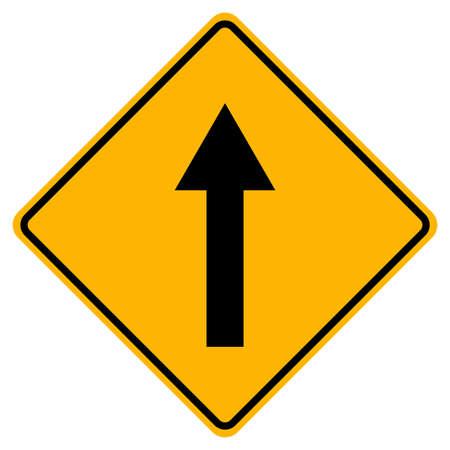 Go Straight Traffic Sign On White Background Illusztráció