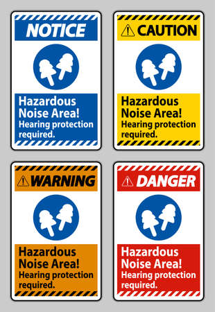 Hazardous Noise Area, Hearing Protection Required