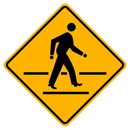 Pedestrian Crossing Warning Road Sign