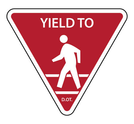 Traffic sign Yield To Pedestrians Vetores