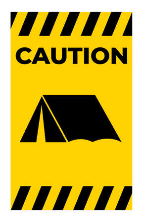No Camping Sing Isolate On White Background,Vector Illustration