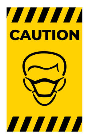 Wear Mask Symbol Sign Isolate On White Background