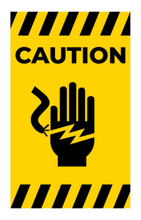 Electrical Shock Electrocution Symbol Sign On White Background 向量圖像