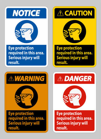 Eye Protection Required In This Area, Serious Injury Will Result