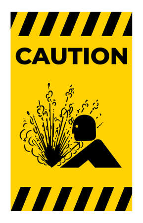 Explosion Release Of Pressure Symbol Sign Isolate on White Background,Vector Illustration 向量圖像