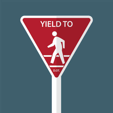 Traffic sign Yield To Pedestrians
