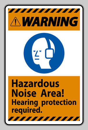 Warning Sign Hazardous Noise Area, Hearing Protection Required