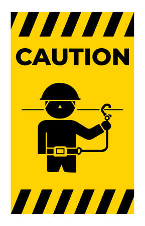 Caution Use Safety Belts Symbol Sign Isolate On White Background