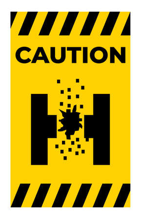 Caution Of Molten Metal Symbol Sign Isolate On White Background 向量圖像