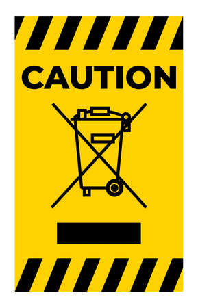 Caution No Waste Symbol Sign Isolate On White Background