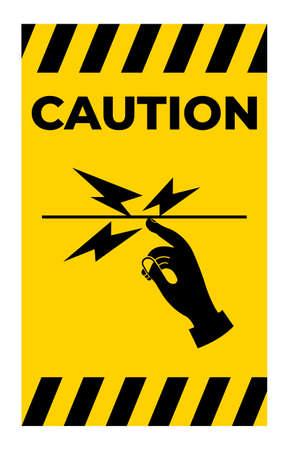 Caution Do Not Touch Symbol Sign Isolate on White Background Ilustração