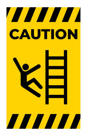 Caution Climb Hazard Symbol Sign Isolate On White Background
