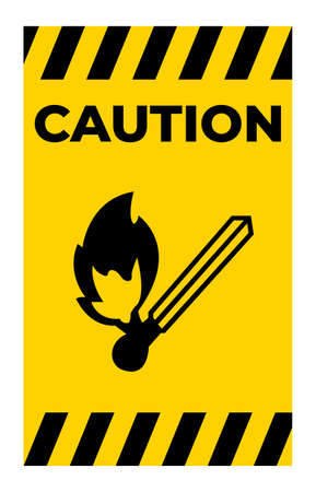 Caution No Fire Ignition Symbol Sign Isolate On White Background