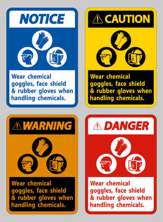 Wear Chemical Goggles, Face Shield and Rubber Gloves When Handling Chemicals