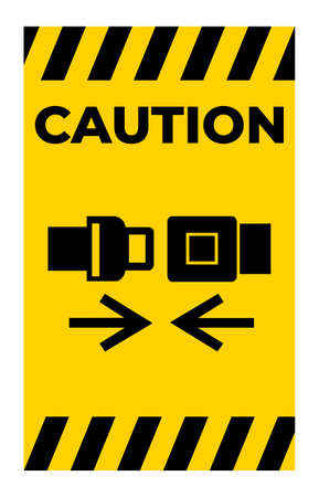 Caution Wear Safety Belt Symbol Sign Isolate On White Background 向量圖像