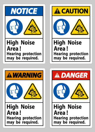High Noise Area Hearing Protection May Be Required