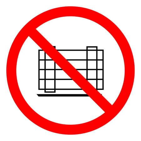 Do not Obstruct Symbol On White Background