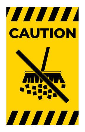 Caution Label Avoid Creating Dust