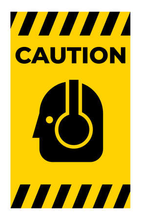 Caution Sign Wear Protective Equipment,With PPE Symbols