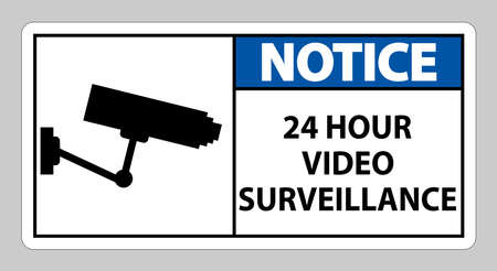 Notice Sign CCTV 24 Hour Video Surveillance
