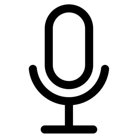 Microphone Icon Symbol on White Background