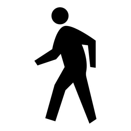 Pedestrian Crossing Symbol Sign Isolate on White Background 向量圖像