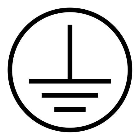 Protective Earth Ground Symbol Sign 向量圖像
