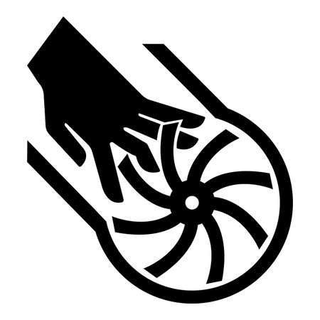 Cutting of Fingers Impeller Blade Symbol Sign Isolate On White Background