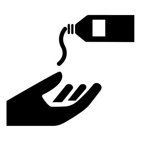 PPE Icon.Use Barrier Cream Symbol Sign Isolate On White Background, Vector Illustration 向量圖像