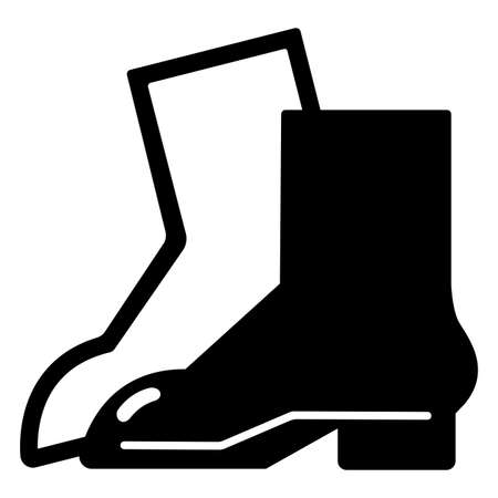 Symbol Wear Foot Protection sign Isolate On White Background 向量圖像