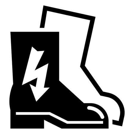 Symbol Wear Electric Shoes Sign Isolate On White Background