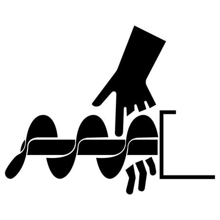 Cutting of Fingers Or Hand Auger Symbol Sign Isolate On White Background 向量圖像