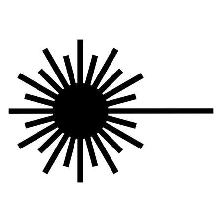 Beware Laser Beam Symbol Sign Isolate On White Background 向量圖像