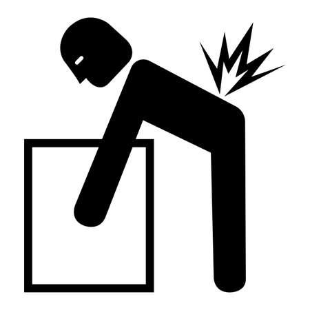 Lifting Hazard Symbol Sign Isolate On White Background