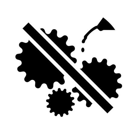Do Not Oil Symbol  On White Background 向量圖像