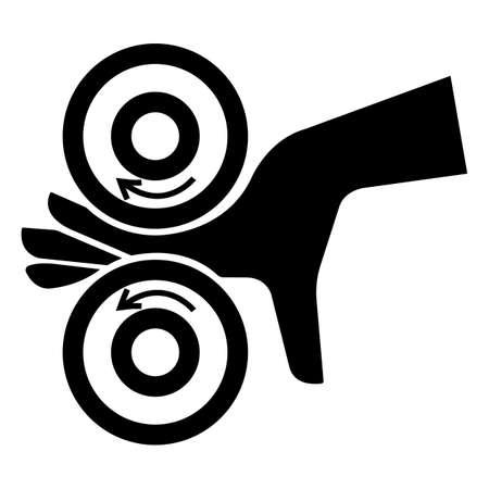 Hand Entangle Left Symbol Sign On White Background